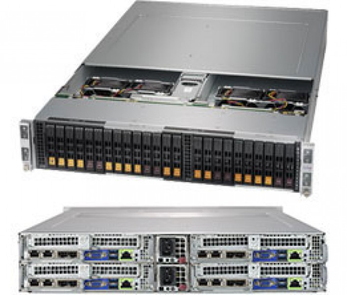 supermicro superserver sys 2029bt hnc1r 2u bigtwin^2 dp 4x6sff lsi