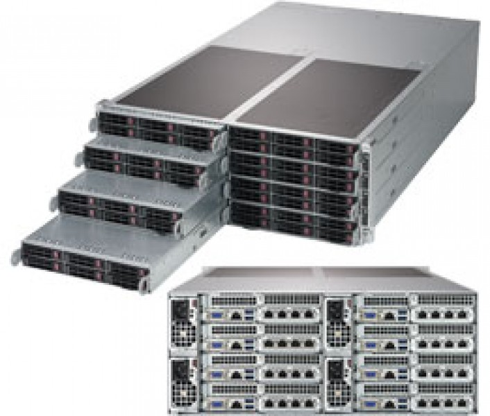 supermicro superserver sys f619p2 rc1 4u fattwin^4 dp 8x6sff lsi 3108