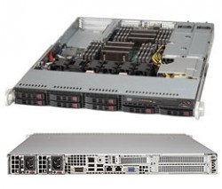 Supermicro SuperServer SYS-1027R-WRF 1U DP 8xSFF 2xGbE RED PSU