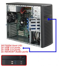 Supermicro SuperChassis SC732D4-500B Mid-Tower 4xLFF FIX PSU