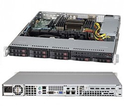 Supermicro SuperServer SYS-1017R-MTF 1U UP 8xSFF 2xGbE FIX PSU