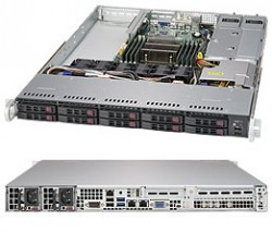 Supermicro SuperServer SYS-1018R-WC0R 1U UP 10xSFF 2xGbE RED PSU