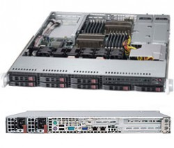 Supermicro SuperServer SYS-1027B-URF 1U DP 8xSFF 2xGbE RED PSU