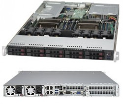 Supermicro SuperServer SYS-1028UX-CR-LL2 1U E5-2687Wv3 64GB 10xSFF LSI3108 4xGbE RED PSU