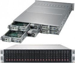 Supermicro SuperServer SYS-2029TP-HC1R 2U Twin^2 DP 4x6SFF LSI 3108 RED PSU