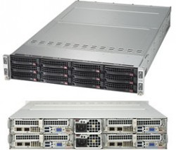 Supermicro SuperServer SYS-6029TP-HTR 2U Twin^2 DP 4x3LFF RED PSU