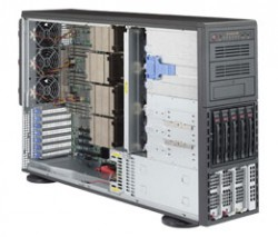 Supermicro SuperServer SYS-8048B-TR3F Tower 4U QP 5xLFF RED PSU