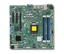 Supermicro MBD-X10SLM-F, Single SKT, Intel C224 Chipset, SATA, 2xGbE, IPMI