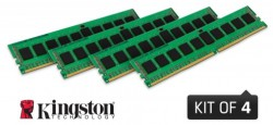 Kingston 64GB 2133MHz DDR4 ECC Reg CL15 DIMM (Kit of 4) DR x4 w/TS (KVR21R15D4K4/64)