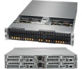 Supermicro SuperServer SYS-2028BT-HNC0R+ 2U BigTwin^2 DP 4x6SFF LSI 3008 RED PSU