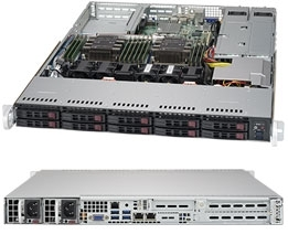 Supermicro SuperServer SYS-1029P-WTRT 1U DP 10xSFF 2x10GbE RED PSU