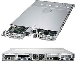 Supermicro SuperServer SYS-1029TP-DC1R 1U Twin DP 2x4SFF LSI 3108 RED PSU