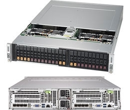 Supermicro SuperServer SYS-2029BT-DNC0R 2U BigTwin DP 2x4NVMe/8SFF LSI 3216 RED PSU