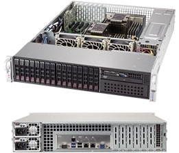 Supermicro SuperServer SYS-2029P-C1R 2U DP 16xSFF LSI3108 2xGbE RED PSU