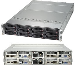 Supermicro SuperServer SYS-6029TP-HC1R 2U Twin^2 DP 4x3LFF LSI 3108 RED PSU