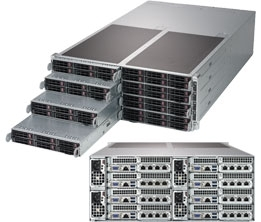 Supermicro SuperServer SYS-F619P2-RC0 4U FatTwin^4 DP 8x6SFF LSI 3008 RED PSU